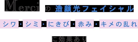 Merciの造顔光フェイシャル シワ・シミ・にきび・赤み・キメの乱れに効果あり
